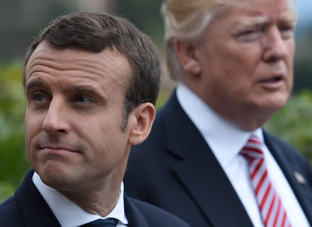 Macron y Trump. Foto: AFP