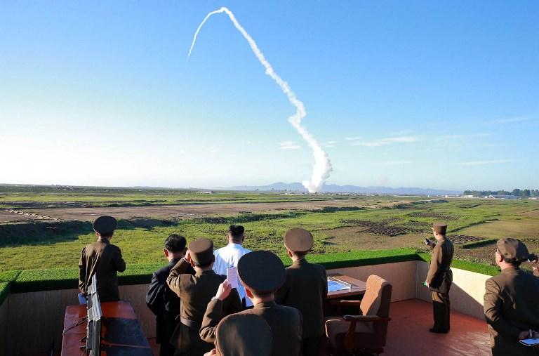 Lanzamiento de misil. Foto: Pyongyang. AFP PHOTO/KCNA VIA KNS