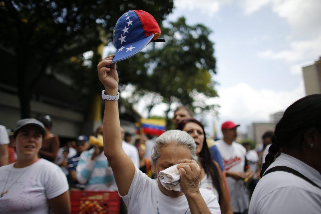 El Heraldo de México. Protestas en Venezuela.  (AP Photo/Ariana Cubillos)