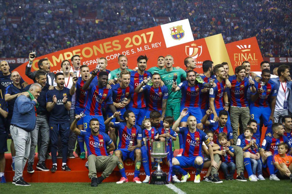 FOTO EFE. Copa del Rey número 29 para el club azulgrana