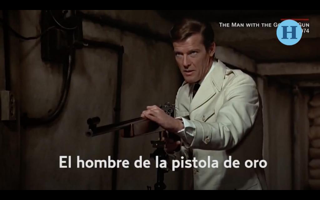 Adiós Roger Moore, el jefe de los James Bond