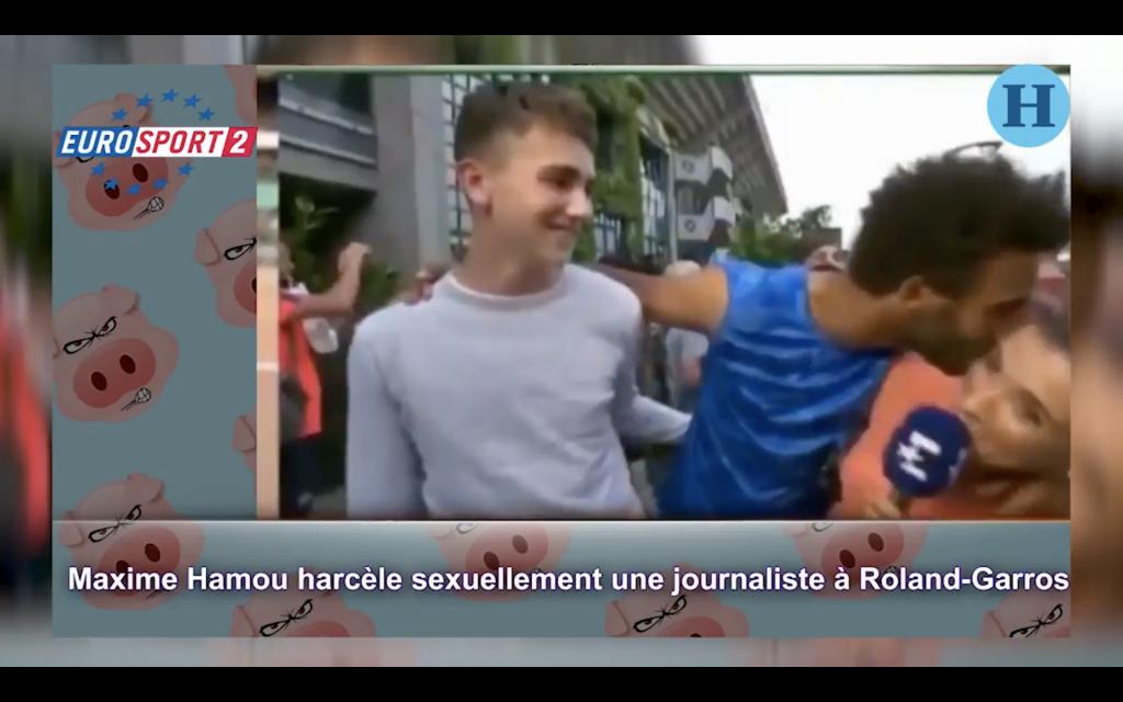 Corren a jugador de Roland Garros por acosar a periodista
