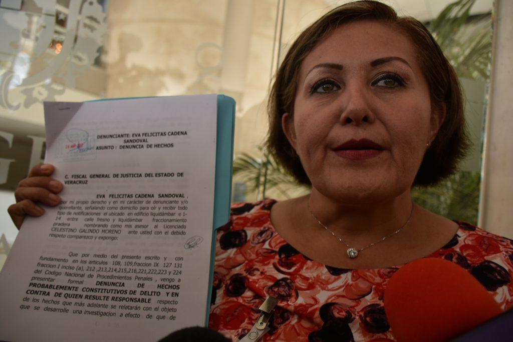 La diputada local de Morena Eva Cadena presentó ante la FiscalÍa del Estado una denuncia por la filtración del video en el que se le ve recibiendo dinero.  FOTO: CUARTOSCURO