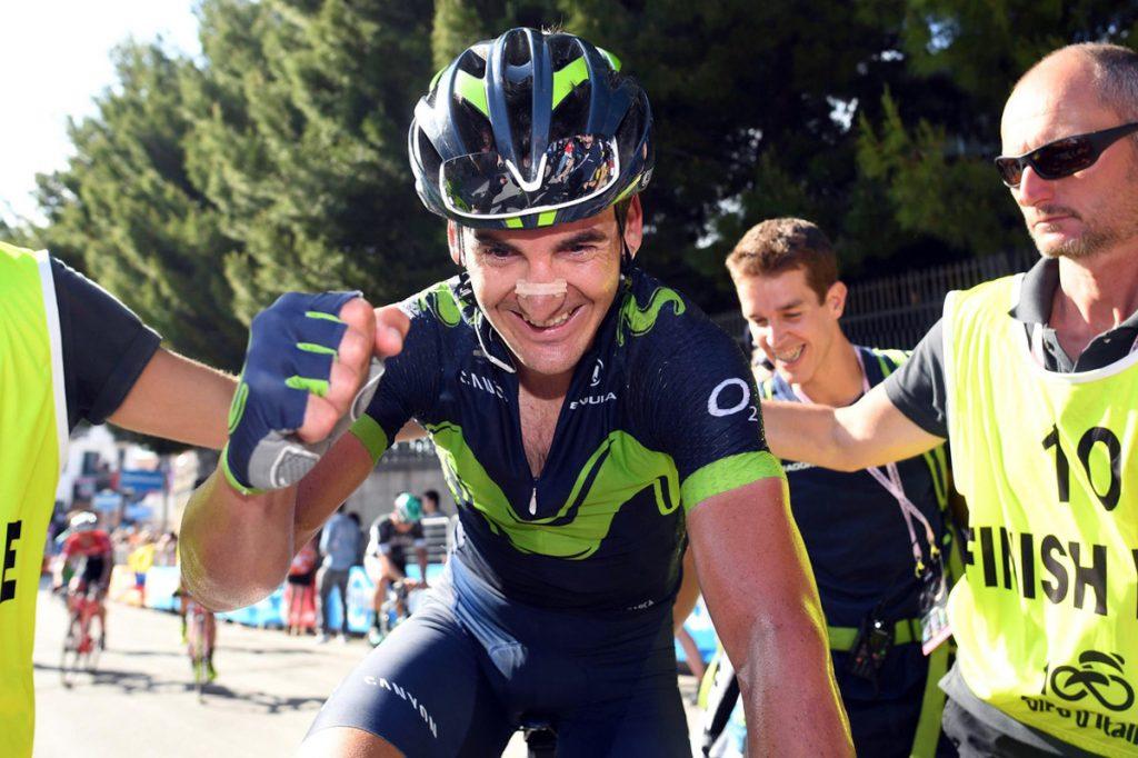 FOTO AP. El ciclista vasco cruzó la meta con segundos de ventaja