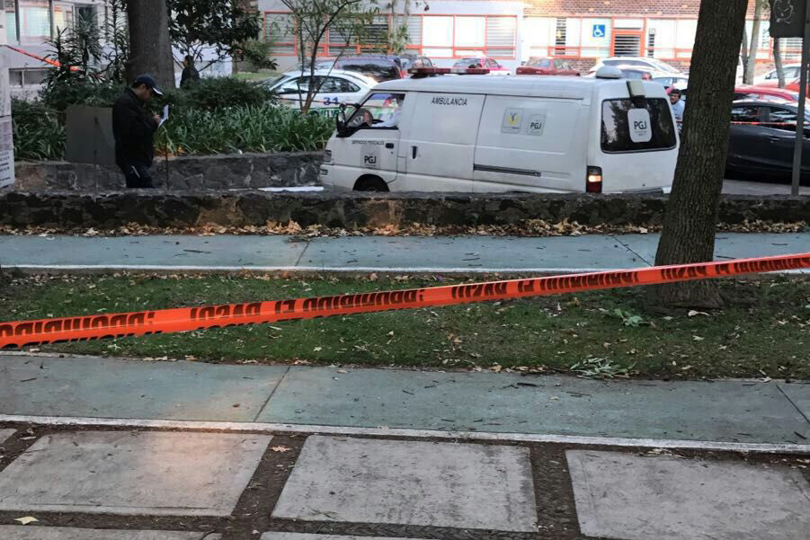 El cuerpo fue hallado en las inmediaciones del Instituto de Ingeniería de la UNAM. FOTO: Especial