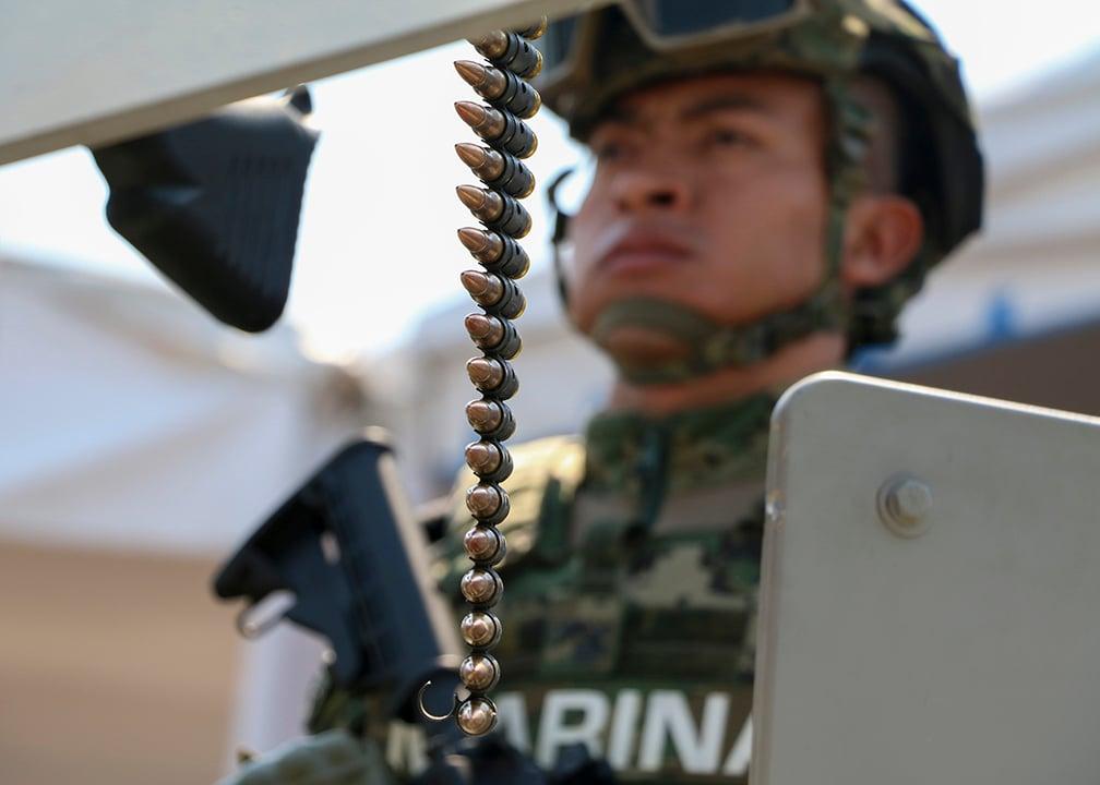 Ramírez dijo que recordó que la función primordial de las Fuerzas Armadas es defender la integridad, independencia y soberanía de la nación. FOTO: CUARTOSCURO
