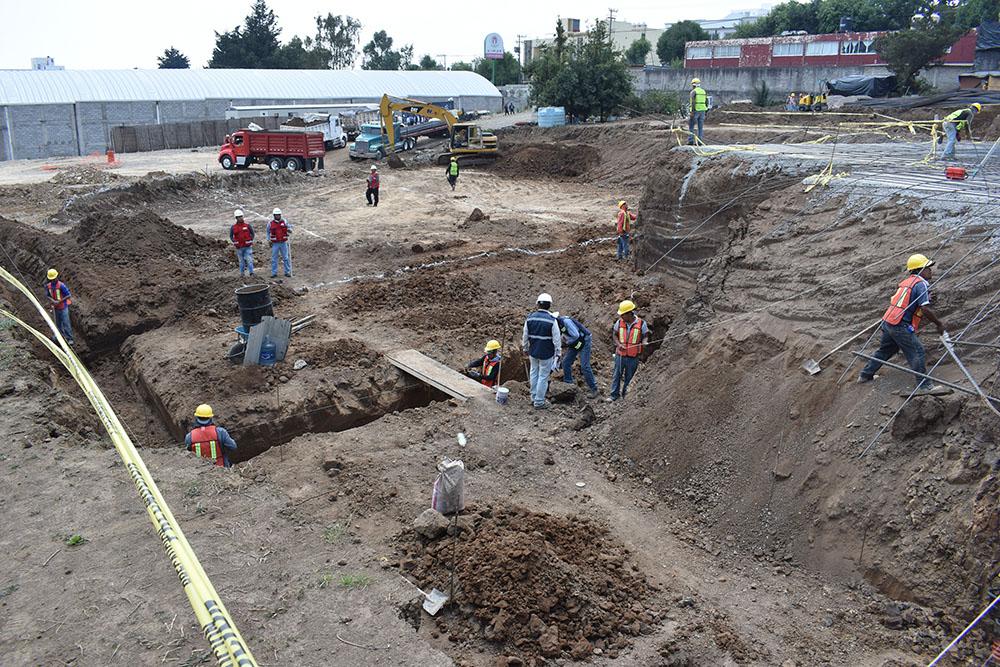El terreno de casi 10 mil metros cuadrados, ubicado en la colonia Contadero, fue delimitado por personal de la SOBSE. FOTO: CUARTOSCURO