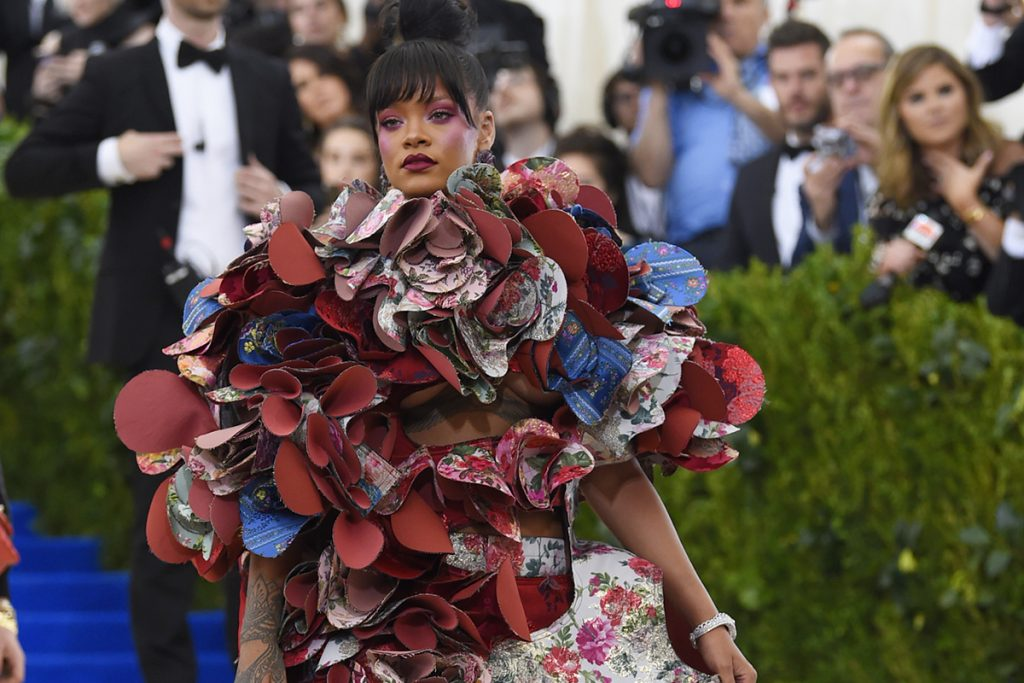 Rihanna attends The Metropolitan Museum of Art's Costume Institute benefit gala celebrating the opening of the Rei Kawakubo/Comme des Garçons: Art of the In-Between exhibition on Monday, May 1, 2017, in New York. (Photo by Evan Agostini/Invision/AP)