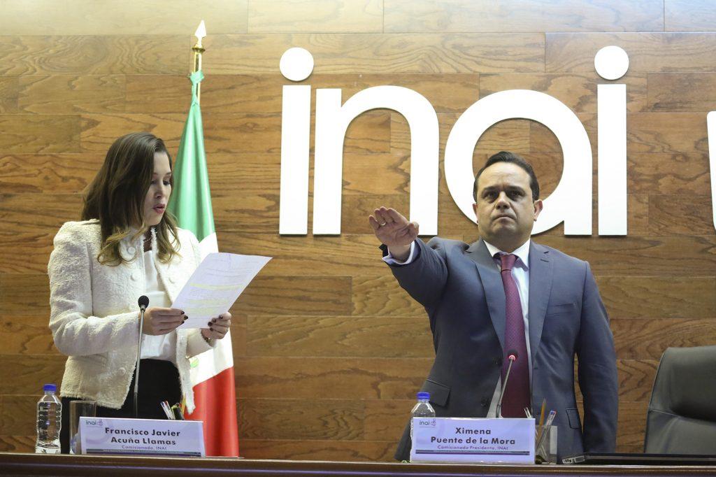 Francisco Javier Acuña tomo protesta como nuevo presidente del Instituto Nacional de Transparencia Acceso al Información y Protección de Datos Personales. FOTO: CUARTOSCURO