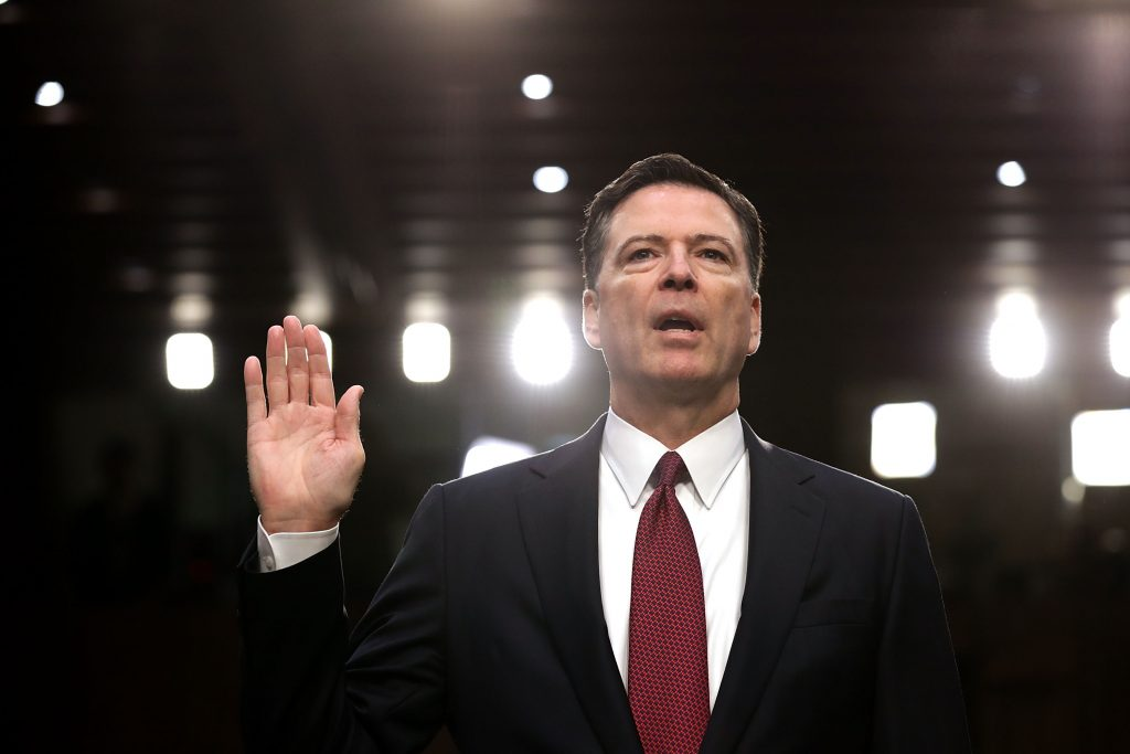James Comey declara ante el Senado. Chip Somodevilla/Getty Images/AFP