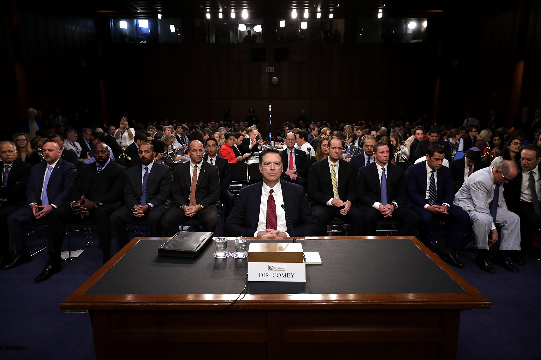 James Comey declara ante el Senado. Chip Somodevilla/Getty Images/AFP