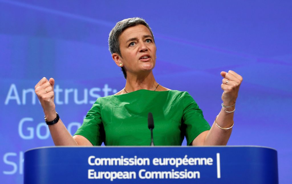 Margrethe Vestager, comisionada de competencia de la Unión Europea. @Reuters