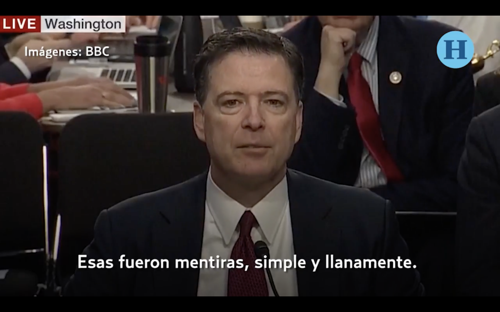 "Donald Trump ""mintió, simple y llanamente"": James Comey en el Senado"