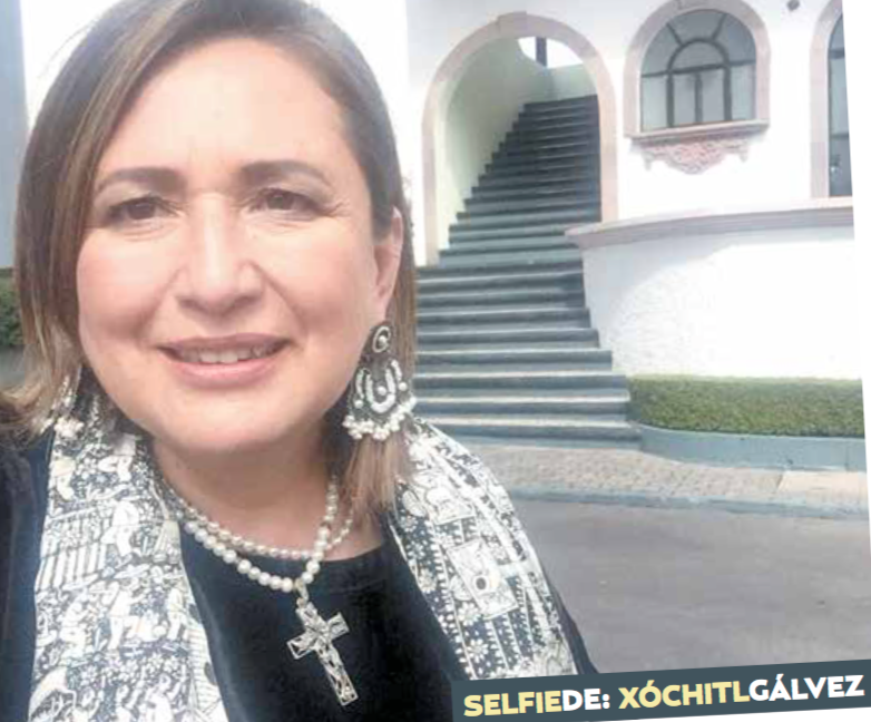 Selfie de Xóchitl Gálvez: tan alto de tan profundo