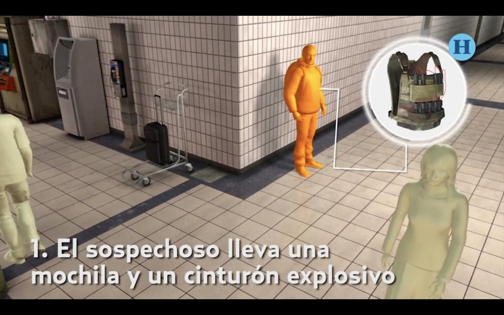 Reconstruyen digitalmente atentado terrorista en Bruselas