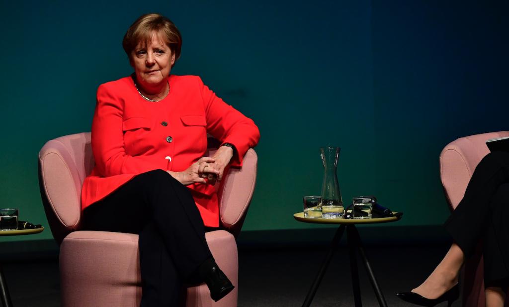Angela Merkel entrevistada para la revista femenina Brigitte. @AFP
