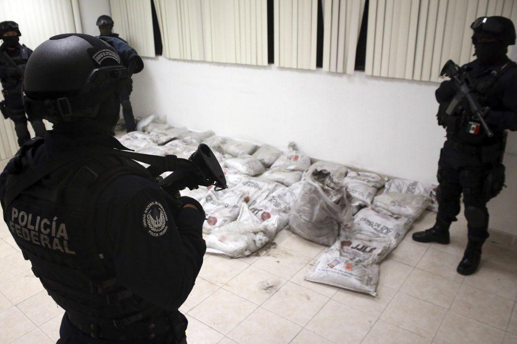 La Procuraduría General de la República junto con la Policía Federal, colaboran constantemente en la lucha contra el narcotráfico. PGR /CUARTOSCURO.COM