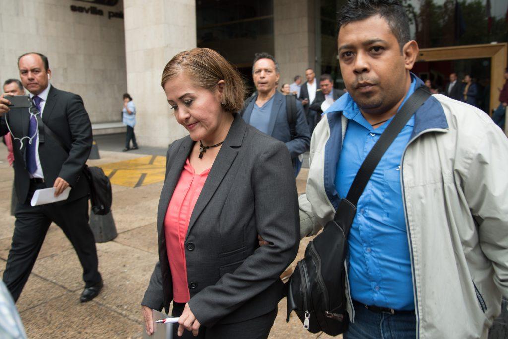 ofreció una conferencia de prensa donde argumentó su inocencia en los videos que se mostraron hace unas semanas donde se ve a la diputada recibiendo 500 mil pesos, supuestamente para entregar a Andrés Manuel López Obrador. FOTO: TERCERO DÍAZ /CUARTOSCURO.COM
