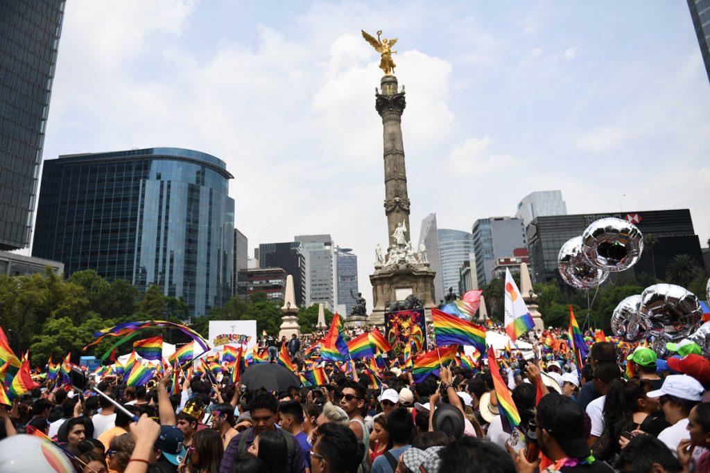 FOTO LESLIE PÉREZ. Aproximadamente 300 mil personas participaron en la edición 39 de la marcha orgullo gay de la CDMX