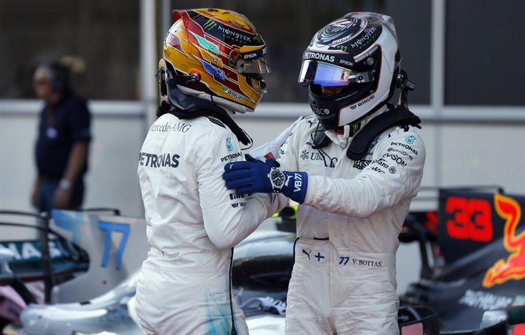 FOTO EFE. Lewis Hamilton y Valtteri Bottas estarán al frente de la parrilla de salida.