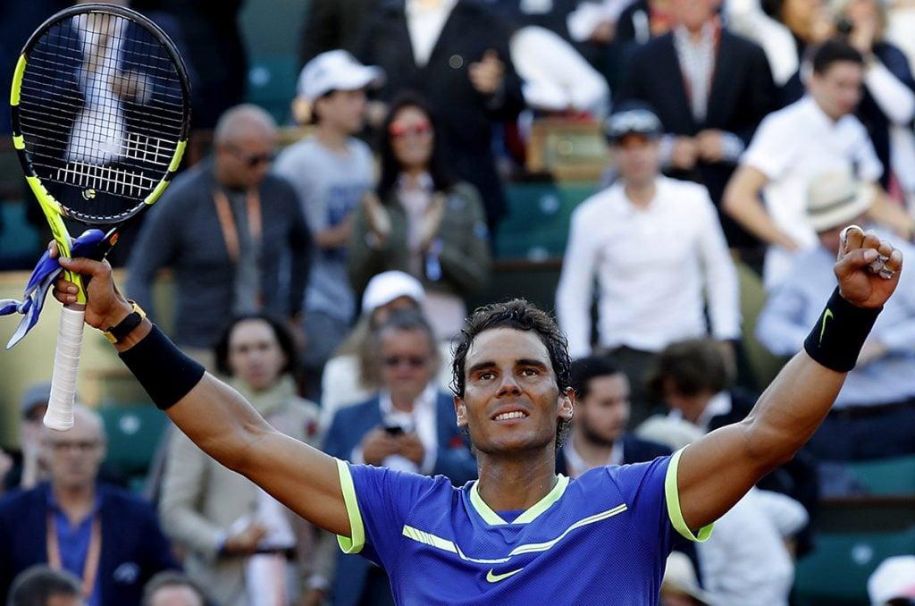 FOTO EFE. El español va por su décimo título en el Grand Slam francés.