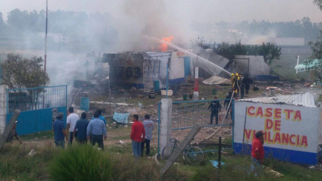Imagen de la explosión en Zumpango. CUARTOSCURO.