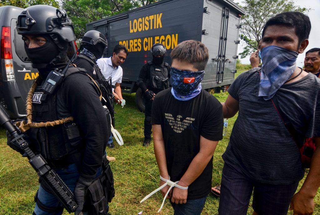 Presunto terrorista y traficante en Indonesia. @AFP