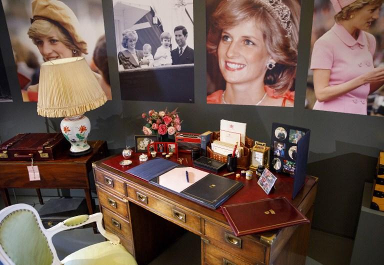 Exhiben objetos personales de la princesa Diana en su honor
