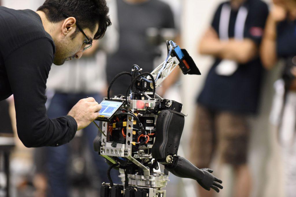 Exposición de tecnología robótica en Japón. @AFP