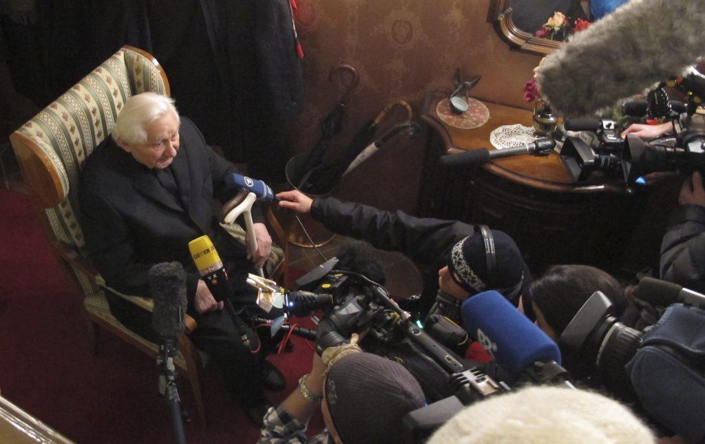Georg Ratzinger. @AP