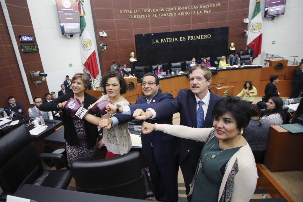 Mariana Gómez del Campo y Daniel Gabriel Ávila. @Cuartoscuro.com
