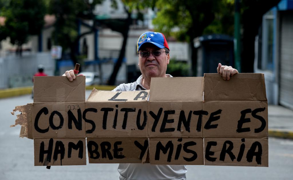 Contra la Constituyente. @AFP