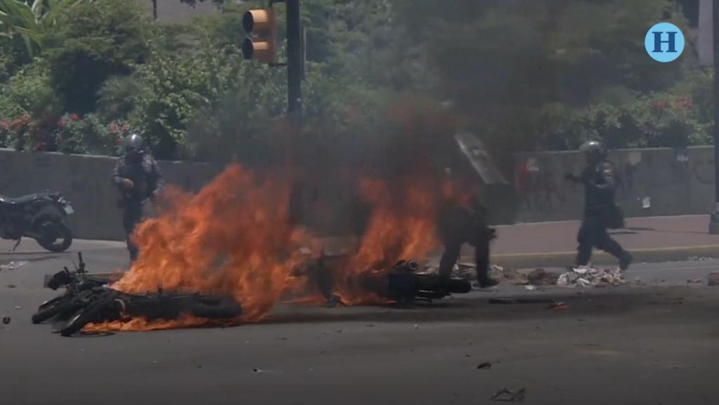 Violencia en Venezuela, reportan un muerto y cuatro militares heridos