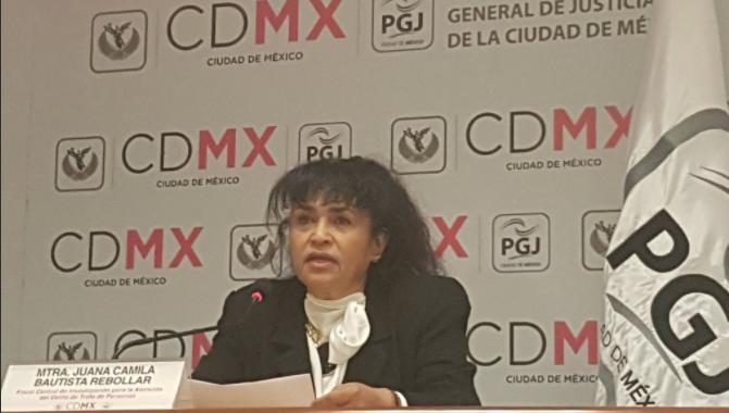 Conferencia con la Fiscal Juana Camila Bautista. @PGJDF_CDMX