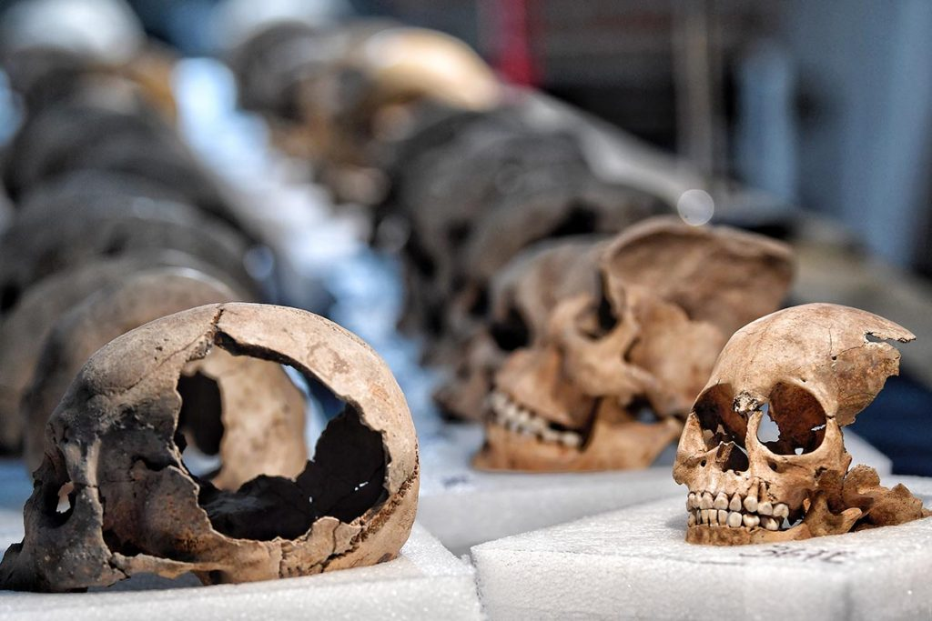 Galería: Un vistazo al interior de Tzompantli, el muro de los cráneos