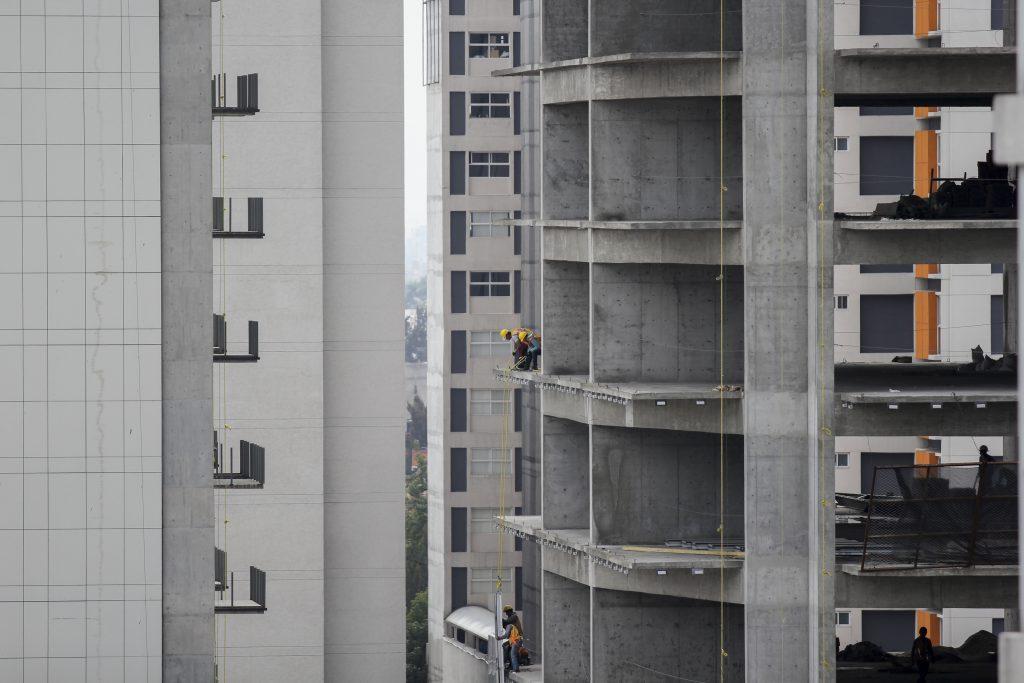 Edificio en construcción, CDMX. @Cuartoscuro.com