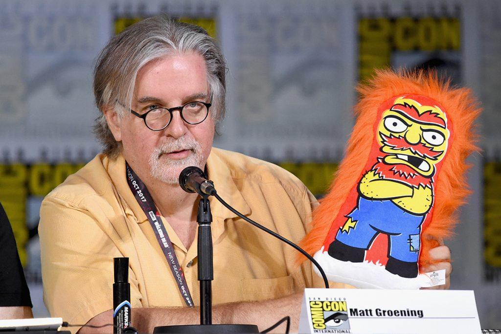 Matt Groening durante la Comic-Con 2017. Foto: AFP
