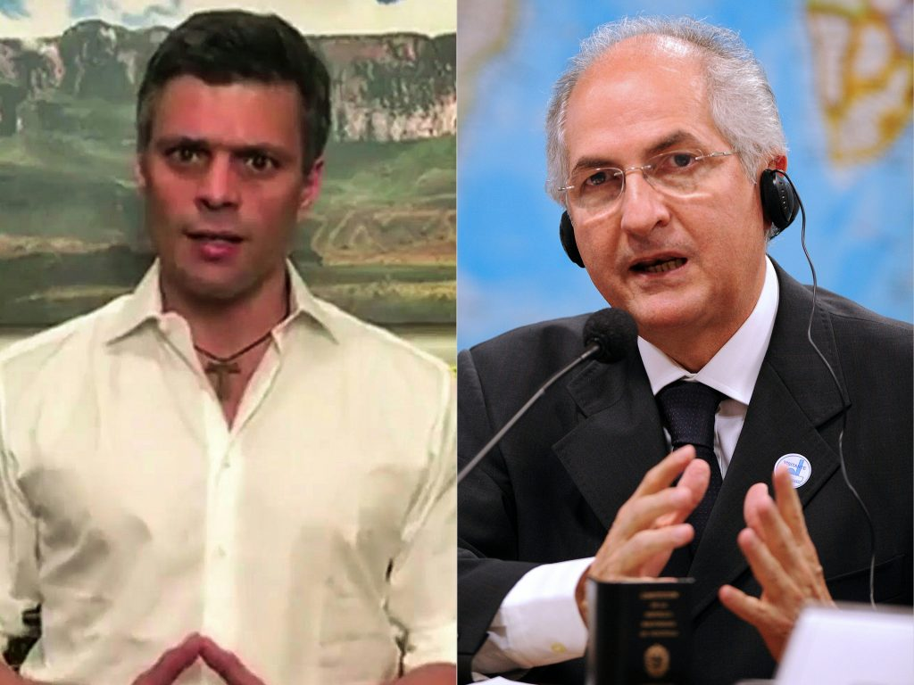 Leopoldo Lopez y Antonio Ledezma. @AFP