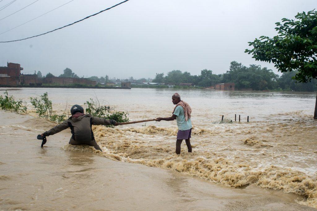 Afectación de las lluvias en Nepal. @AFP
