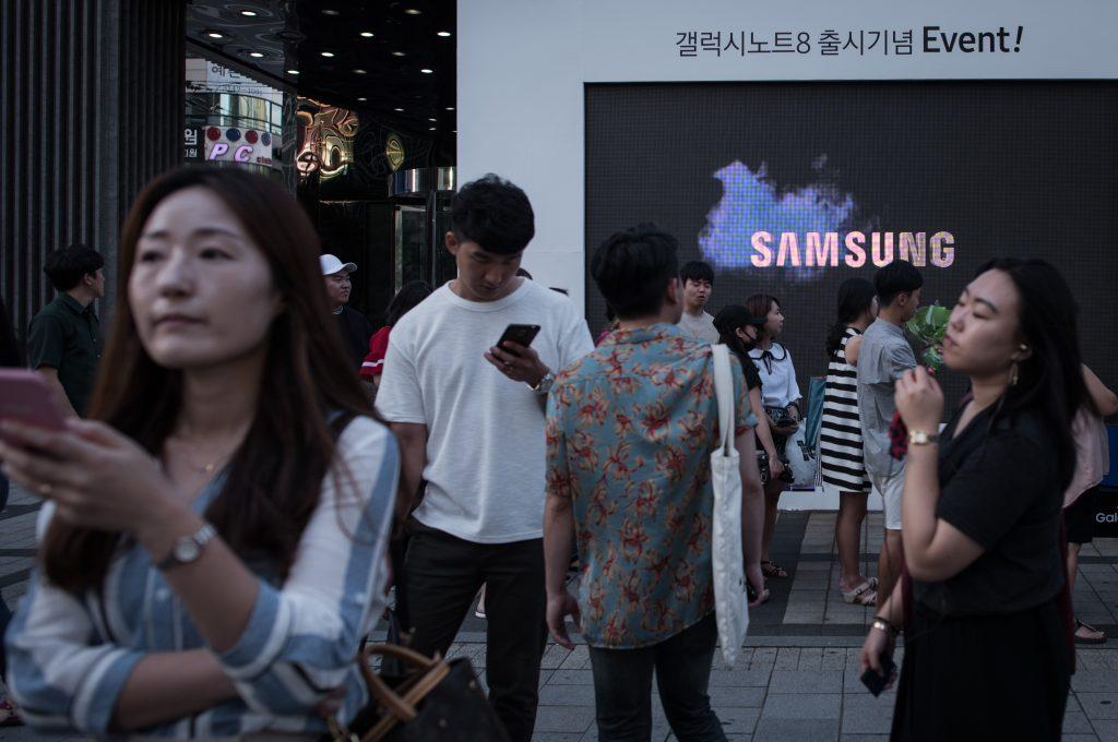 Samsung. @AFP