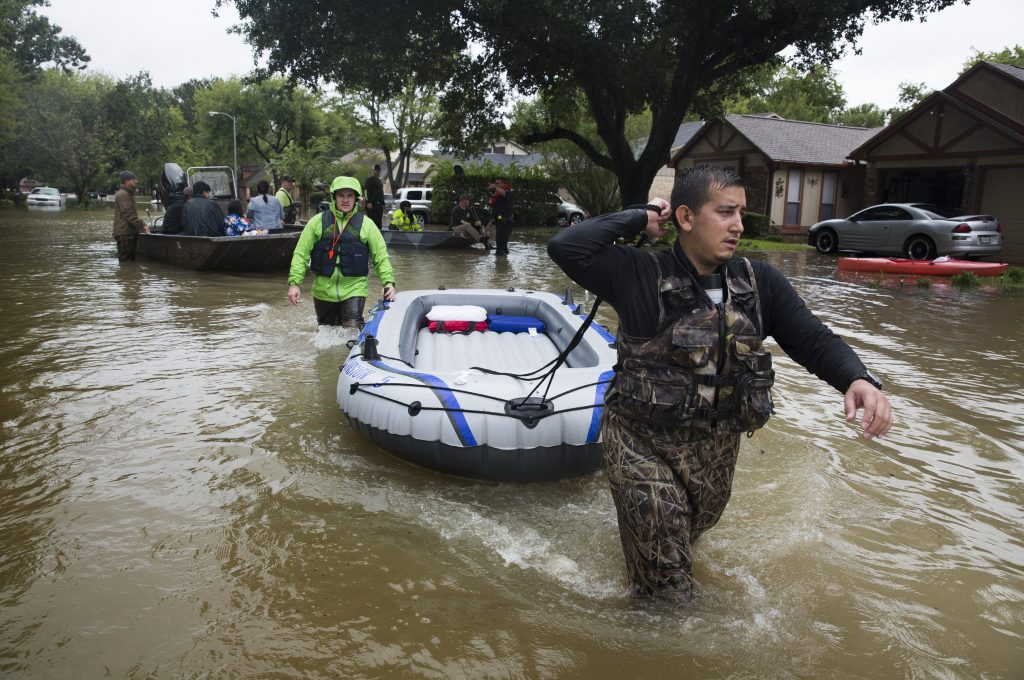 Inundaciones en Houston, Texas. AFP.