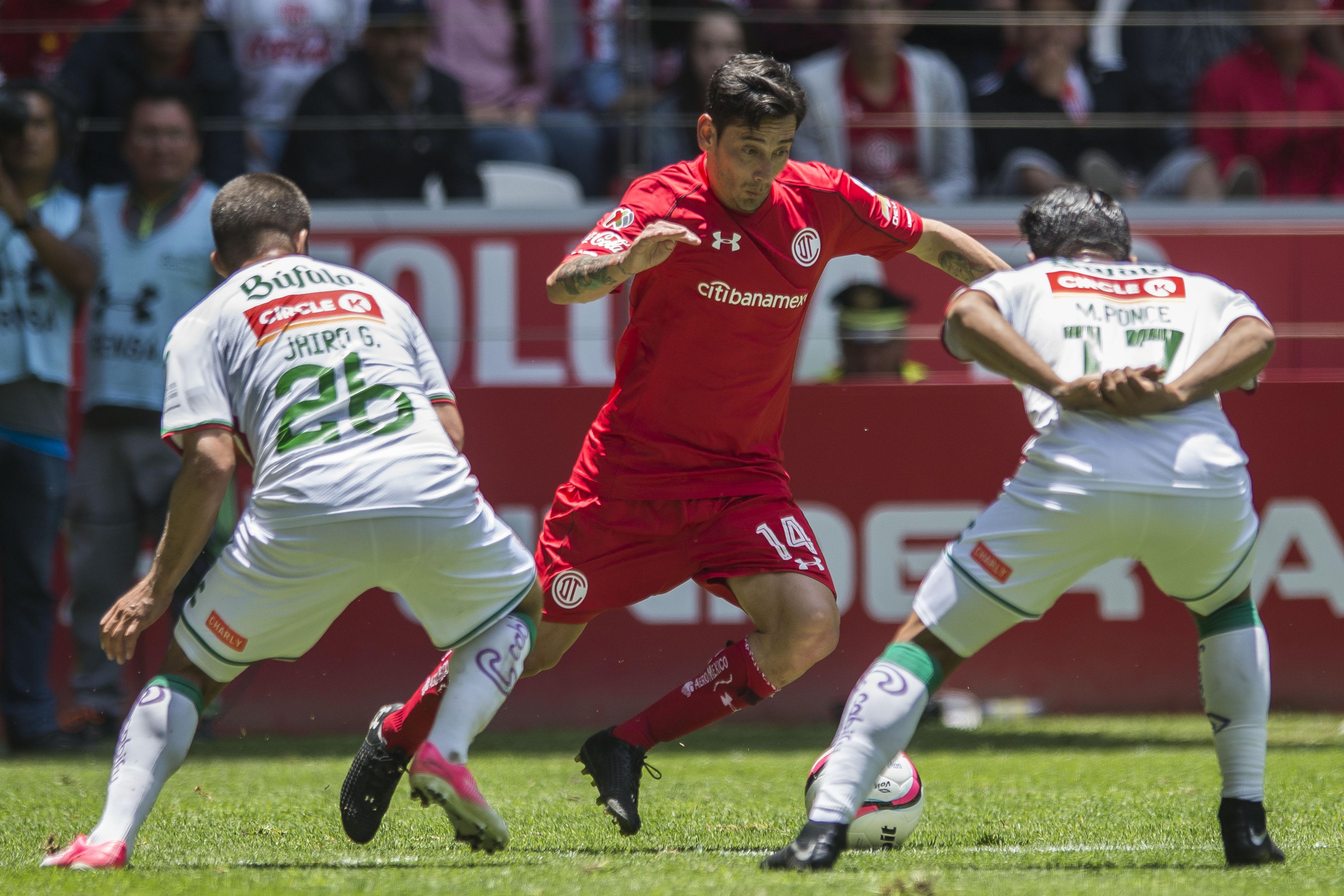 Toluca vs Necaxa, correspondiente a la Jornada 5 de la Liga MX del Torneo Apertura 2017, en Estadio Nemesio Diez. @Mexsport.net