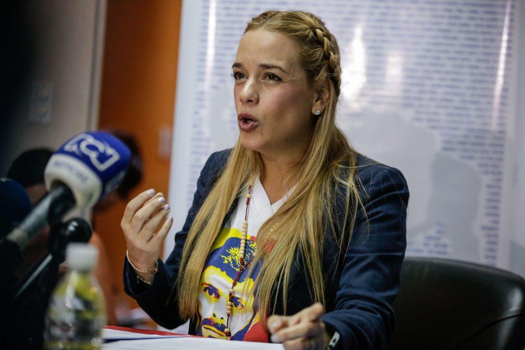 Lilian Tintori, esposa del dirigente opositor Leopoldo López. EFE