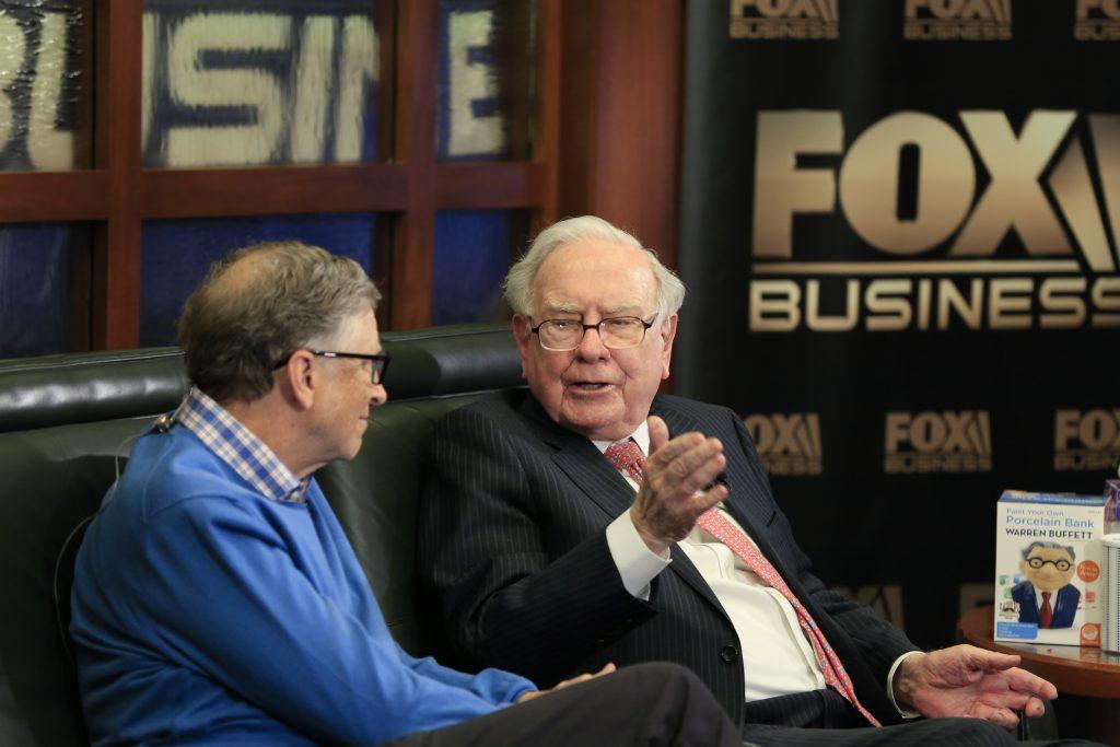 Warren Buffett, Bill Gates. @AP