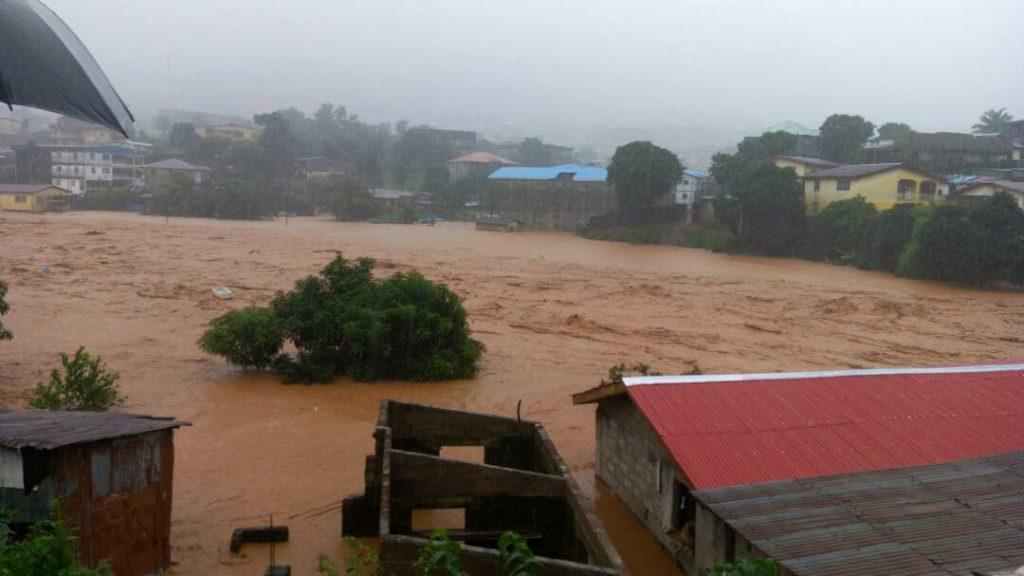 Aludes en Sierra Leona. @AP