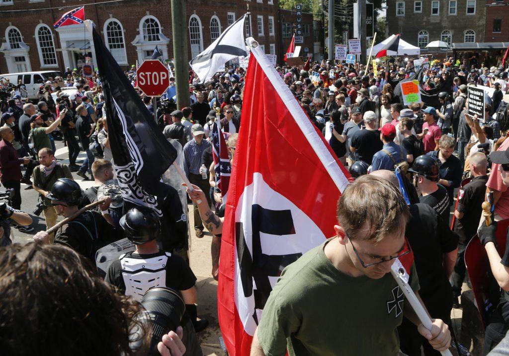Protesta Neo Nazi en Charlottesville. @AP
