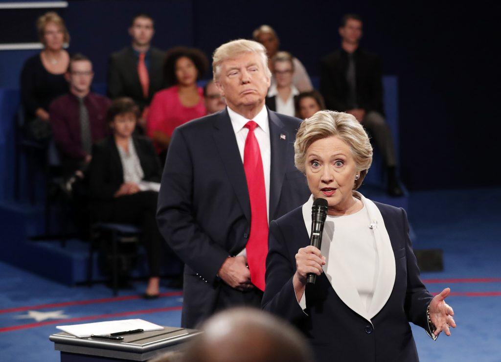 Hillary Clinton, Donald Trump. @AP