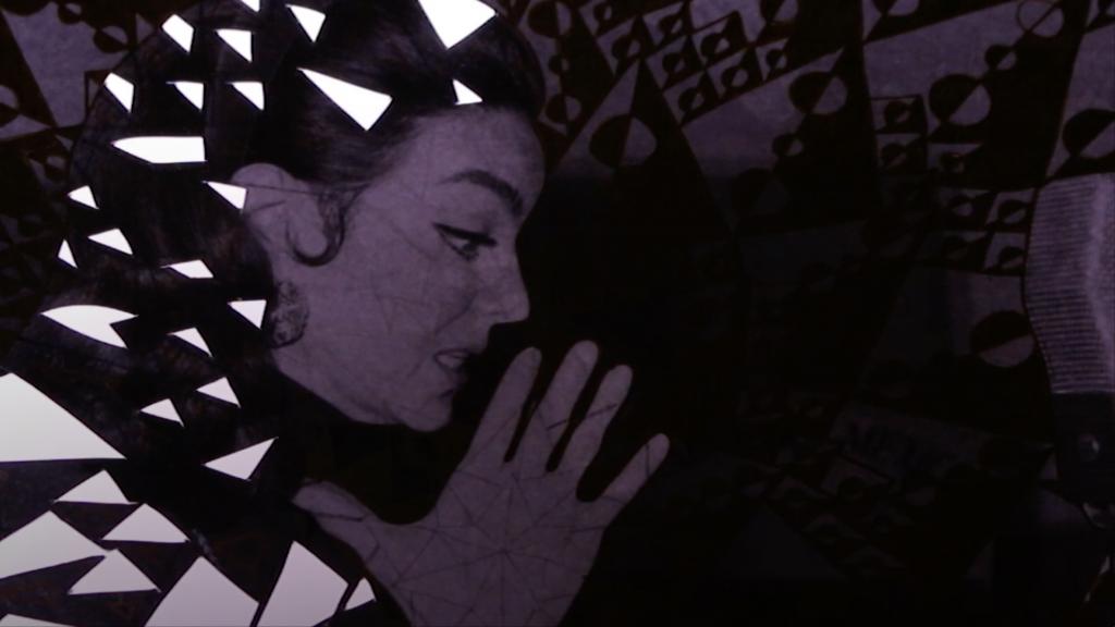 Intervención artística de fotos del Cine de Oro Mexicano
