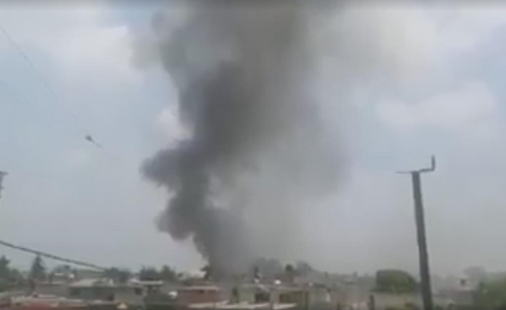 Se registra explosión por cohetones en taller clandestino de Tultitlán