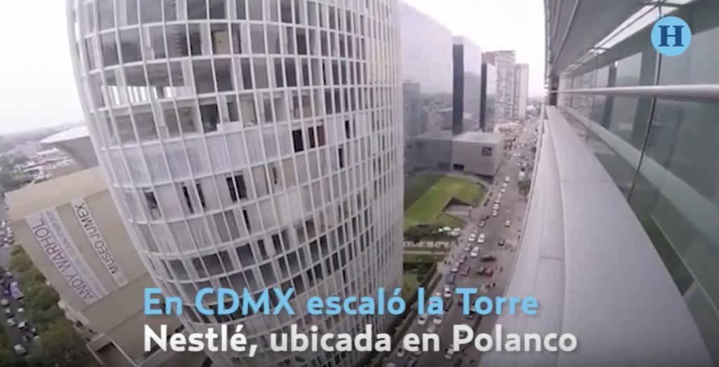 Spiderman ruso es detenido por escalar edificio en Polanco